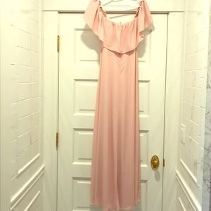 Amanda Uprichard soft pink dress. Formal